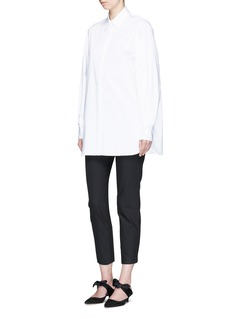 The Row'Patou' pleated button cuff cotton poplin shirt