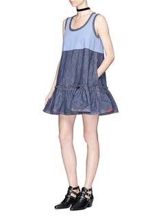 Marc JacobsRuffle sleeveless denim dress