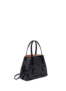 Alaïa'Garden' small floral stud leather tote