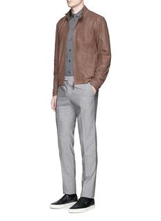 Armani CollezioniLambskin leather blouson jacket