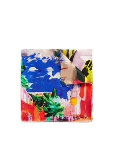 Paul Smith'Paul's Photos' print silk pocket square