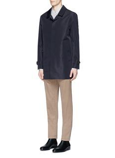 Paul SmithMixed print patchwork Mandarin collar shirt