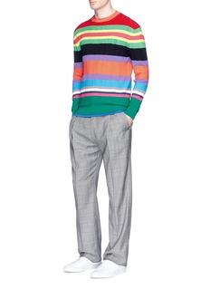 Paul SmithStripe bouclé sweater