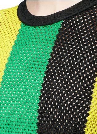 Open Mesh Knitting Stitches : Proenza Schouler Stripe open mesh knit long sleeve top Lane Crawford