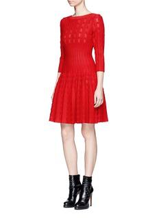 Alaïa 'Bossa Nova' dot stripe knit dress