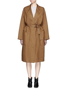 ISABEL MARANT TOILE Idony Oversized Cotton Linen Gabardine Coat