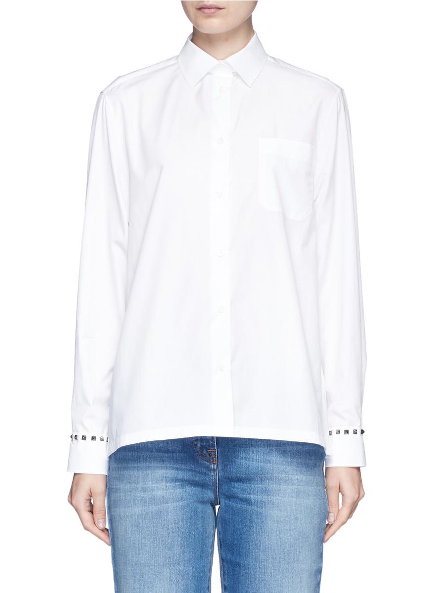 Rockstud Untitled 05 Noir poplin shirt by Valentino