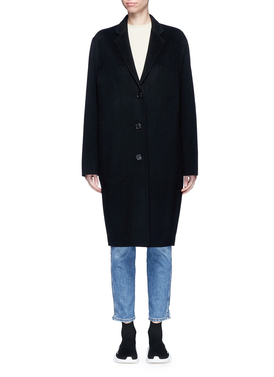 Avalon double faced cashmere-wool melton coat by Acne Studios