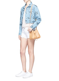 Etre Cecile  Star embroidered cropped denim jacket