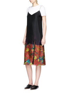 Acne Studios Sea flower print silk camisole dress