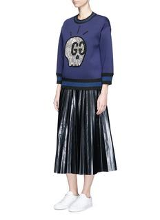 Gucci 'GucciGhost' crystal appliqué bonded jersey sweatshirt