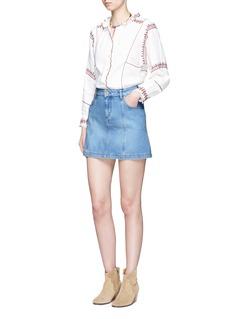 Isabel Marant Étoile'Candice' denim A-line mini skirt