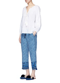 Figue'Fiore' abstract pyramid print silk pants