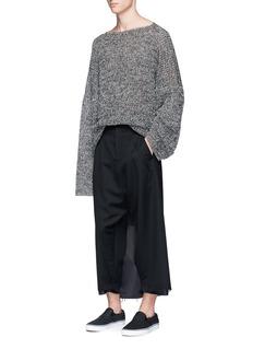 SulvamOverlay back wool cropped pants