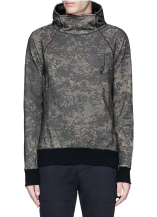 Main View - Click To Enlarge - Den Im By Siki Im - 'VAMPYROS' camouflage print hoodie
