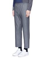Virgin wool blend jogging pants