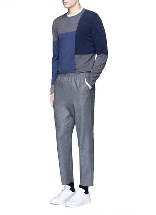 Figure View - Click To Enlarge - COVERT - Virgin wool blend jogging pants