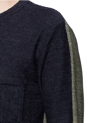 Detail View - Click To Enlarge - COVERT - Colourblock virgin wool sweater
