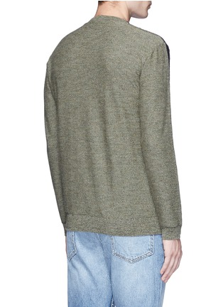Back View - Click To Enlarge - COVERT - Colourblock virgin wool sweater