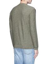 Colourblock virgin wool sweater