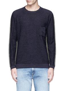 COVERTColourblock virgin wool sweater
