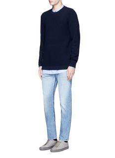 COVERTButton side virgin wool sweater