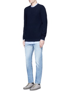 COVERT Frayed cotton jeans
