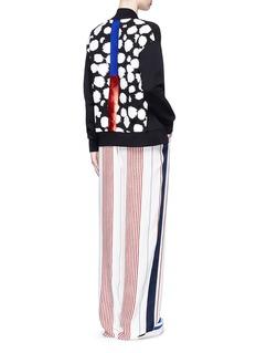 ETRE CECILE Cheetah print foil stripe bomber jacket