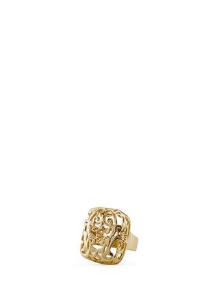 SHAOO PARIS-镂空雕花18K金戒指