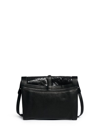 Back View - Click To Enlarge - Isabel Marant - 'Helmut' snakeskin leather combo accordion clutch