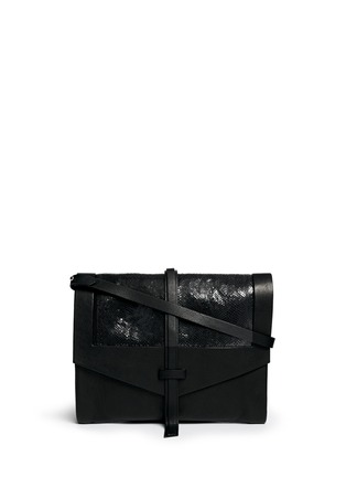 Main View - Click To Enlarge - Isabel Marant - 'Helmut' snakeskin leather combo accordion clutch