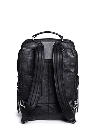 Back View - Click To Enlarge - Alexander Wang  - 'Wallie' waxy paper leather backpack