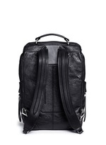 'Wallie' waxy paper leather backpack