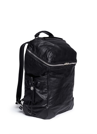 Front View - Click To Enlarge - Alexander Wang  - 'Wallie' waxy paper leather backpack