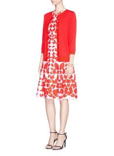 ST. JOHNMirror floral jacquard knit wool blend dress