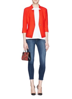 ST. JOHNNotched collar textured knit jacket