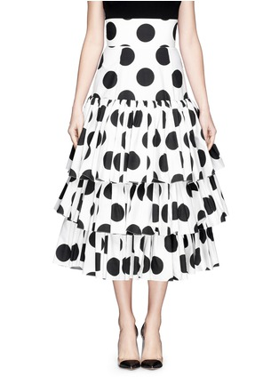 首图 - 点击放大 - DOLCE & GABBANA - Paint effect polka dot high waist tier skirt