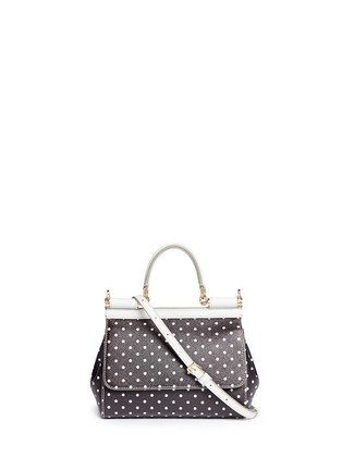 Main View - Click To Enlarge - Dolce & Gabbana - 'Miss Sicily' mini polka dot leather satchel