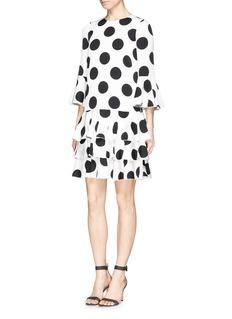 Dolce & GabbanaPolka dot silk charmeuse tier dress