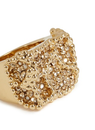 Detail View - Click To Enlarge - Chloé - 'Eleanor' crystal pavé milgrain ring
