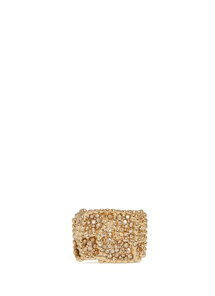 Main View - Click To Enlarge - Chloé - 'Eleanor' crystal pavé milgrain ring