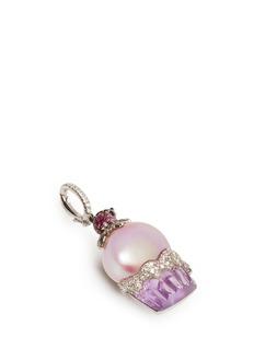 Bao Bao WanDiamond pearl amethyst cupcake pendant