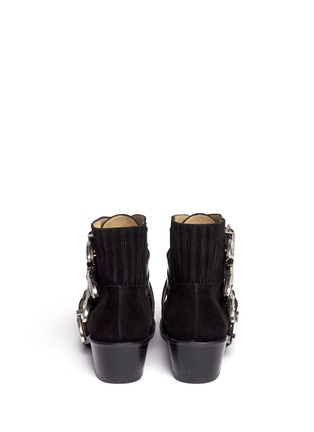 Back View - Click To Enlarge - TOGA ARCHIVES - Buckle suede cowboy boots