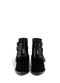 TOGA ARCHIVES Buckle suede cowboy boots