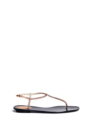 Main View - Click To Enlarge - René Caovilla - Crystal T-strap flat sandals