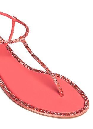 Detail View - Click To Enlarge - René Caovilla - Cupido crystal T-strap flat sandals