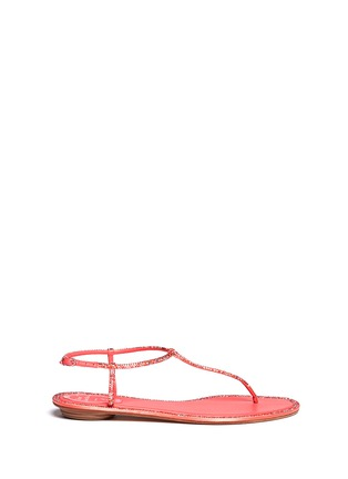 Main View - Click To Enlarge - René Caovilla - Cupido crystal T-strap flat sandals