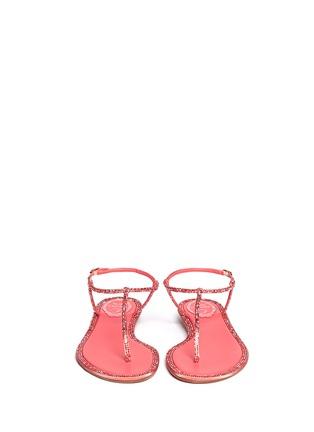 Figure View - Click To Enlarge - René Caovilla - Cupido crystal T-strap flat sandals