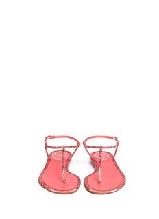RENÉ CAOVILLACupido crystal T-strap flat sandals