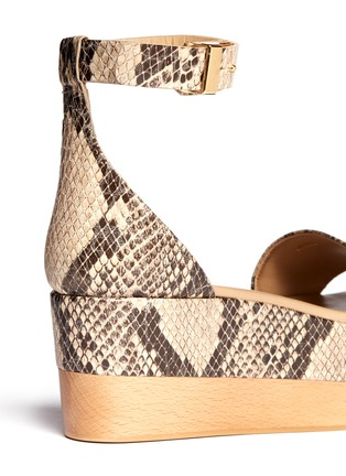 Detail View - Click To Enlarge - Stella McCartney - Python print flatform sandals